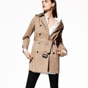 Aritzia Babaton Oliver Trench coat in Black S EUC